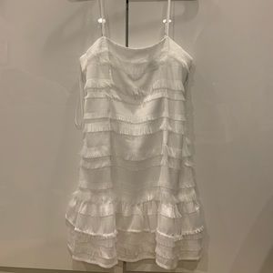molina mini dress white